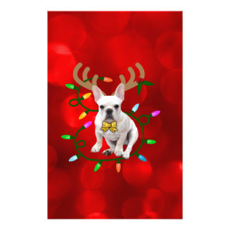 French Bulldog Reindeer Stationery
