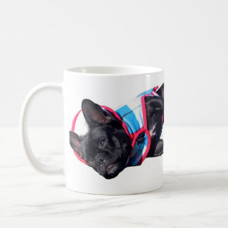 French Bulldog relaxing, Paris Logo, Caffine pl... Coffee Mug