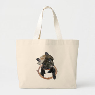 French Bulldog Rodeo Champ Large Tote Bag