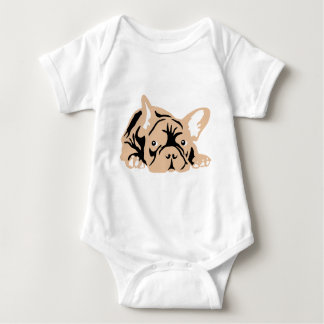 French Bulldog rose Baby Bodysuit