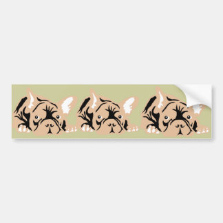 French Bulldog rose Bumper Sticker