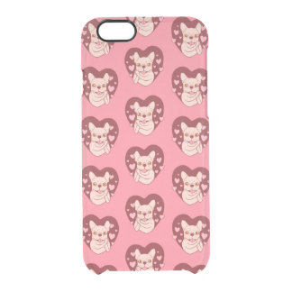French Bulldog Sharing Love and Passion Clear iPhone 6/6S Case