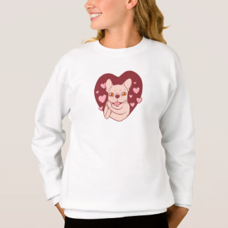 French Bulldog Sharing Love and Passion Sweatshirt