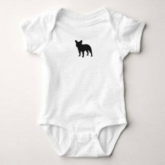 French Bulldog Silhouette Baby Bodysuit