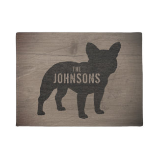 French Bulldog Silhouette Custom Doormat