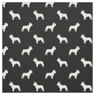 French Bulldog silhouette dog fabric