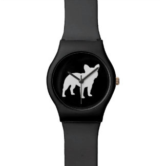 French Bulldog Silhouette Watches