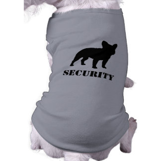 French Bulldog Silhouette with Text Sleeveless Dog Shirt