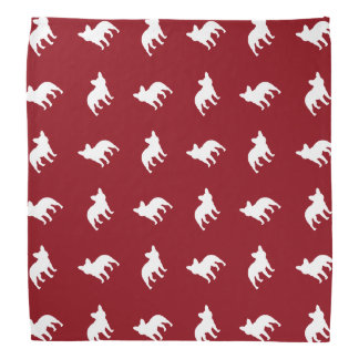 French Bulldog Silhouettes Pattern Bandana