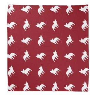 French Bulldog Silhouettes Pattern Bandanas