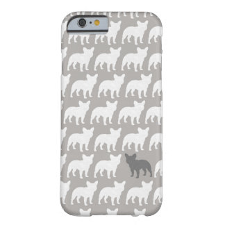 French Bulldog Silhouettes Pattern Barely There iPhone 6 Case