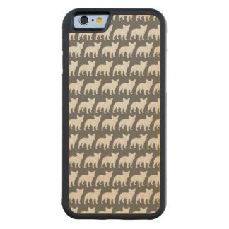 French Bulldog Silhouettes Pattern Maple iPhone 6 Bumper Case