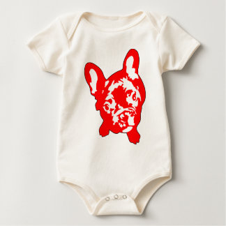 French Bulldog sitting Baby Bodysuit