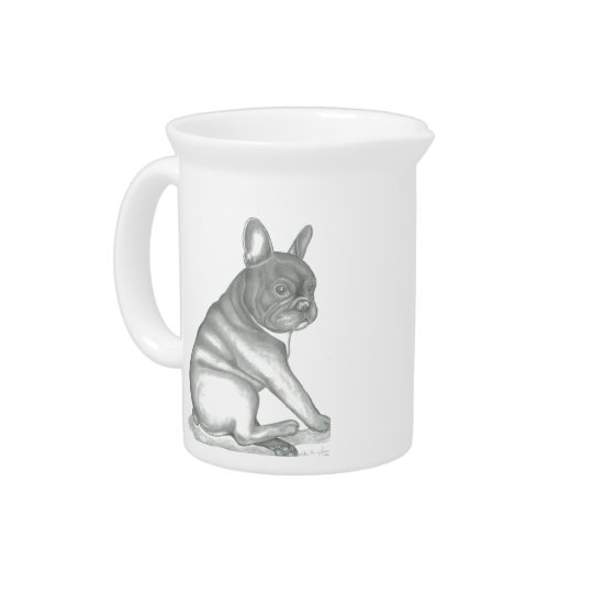 French Bulldog sketch pitcher