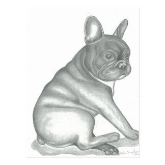 French Bulldog sketch postcards