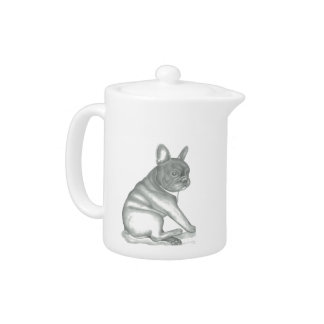 French Bulldog sketch teapot