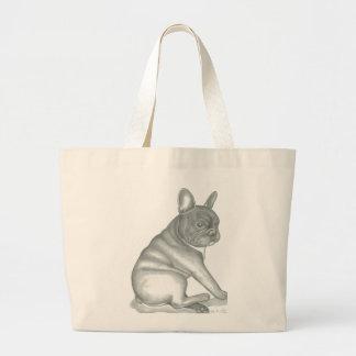French Bulldog sketch tote