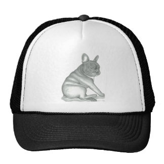 French Bulldog sketch trucker hat. Cap