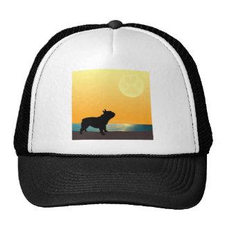 French Bulldog Surfside Sunset Mesh Hat