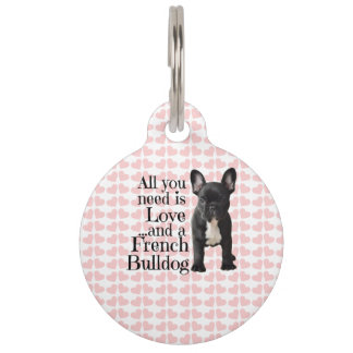 French Bulldog Tag Pet - Love