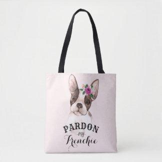 French Bulldog Tote Bag - Pink