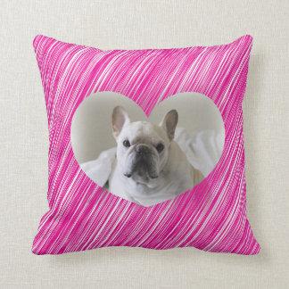 French Bulldog Valentine's Day Heart pillow