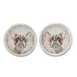 French Bulldog Vintage Portrait Cufflinks