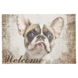 French Bulldog Vintage Portrait Doormat