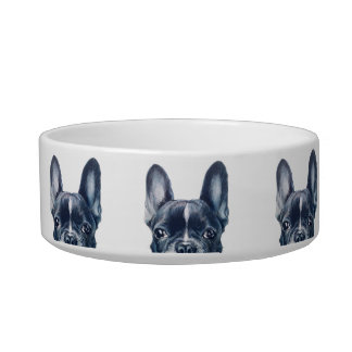 French bulldog water bowl, original by miart bowl