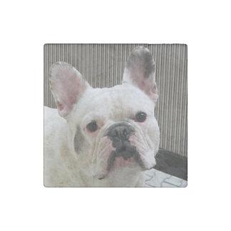 French_Bulldog white Stone Magnet