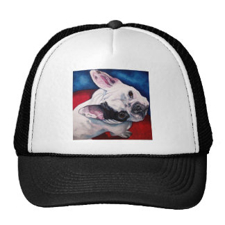 French Bulldog White with Patch Cap