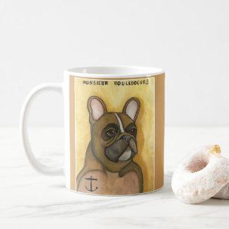 French Bulldog with anchor tattoo mug