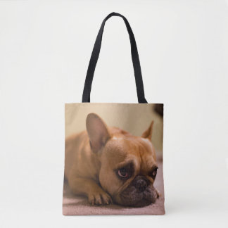 French Bulldog With Innocent Face Tote Bag
