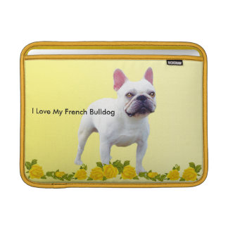 French Bulldog with Yellow roses Sleeve For MacBook Air
