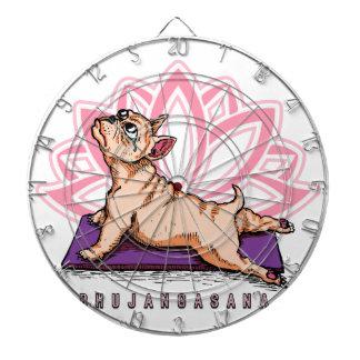 French Bulldog Yoga - Bhujangasana Pose - Funny Dartboard