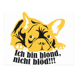 French Bulldogge: Blond! Postcards