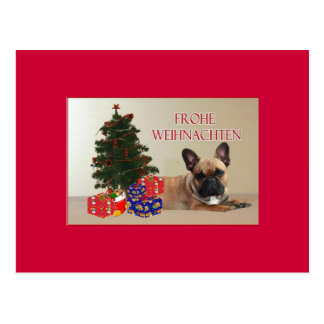 French Bulldogge Christmas card