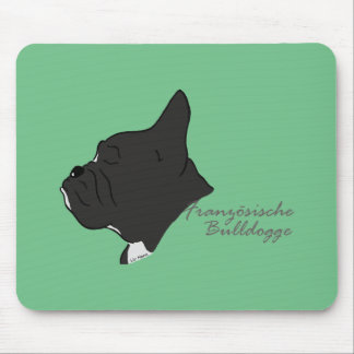 French Bulldogge head silhouette Mouse Pad