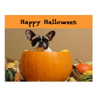 French Bulldogge postcard Happy Halloween