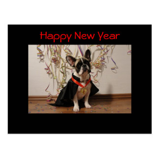 "French Bulldogge postcard ""Happy new Year """
