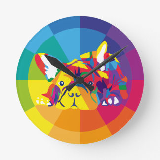 French Bulldoggen clock