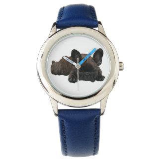 French Bulldoggen of children wrist-watch Wristwatch