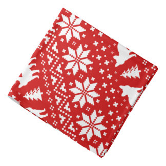 French Bulldogs Christmas Sweater Style Pattern Bandana