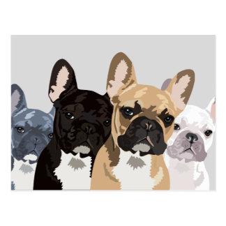French Bulldogs | Cute Frenchie Bulldog Postcard