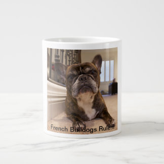 French Bulldogs Rule Large Coffee Mug