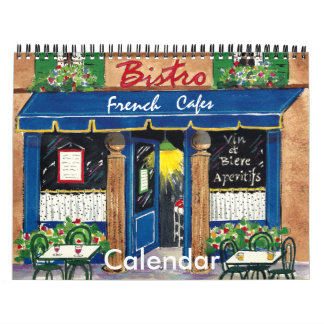 French Cafes, Calendar