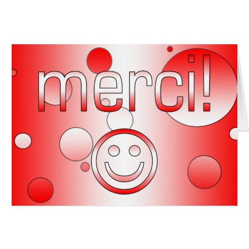 French Canadian Gifts Thank You Merci Smiley Face Cards