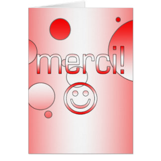 French Canadian Gifts Thank You Merci Smiley Face Note Card