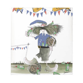 french capitaine footballeur notepad