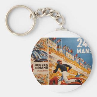 french car race vintage - 24h du Mans Key Chain